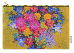 Carry-all Pouch featuring the photograph Summer Flowers by Vladimir Kholostykh