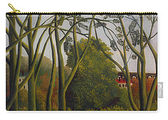 Carry-all Pouch featuring the painting The Banks Of The Bievre Near Bicetre by Henri Rousseau
