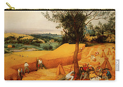Carry-all Pouch featuring the painting The Harvesters by Pieter Bruegel The Elder