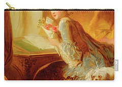 Carry-all Pouch featuring the painting The Love Letter by Jean Honore Fragonard