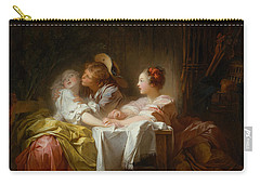 The Stolen Kiss Carry-all Pouch by Jean-Honore Fragonard