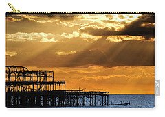 The West Pier In Brighton At Sunset Carry-all Pouch