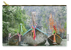 Traditional Long Boat In Thailand Carry-all Pouch