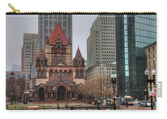 Carry-all Pouch featuring the photograph Trinity Church - Copley Square - Boston by Joann Vitali