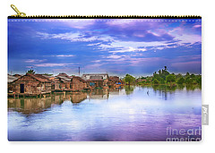 Carry-all Pouch featuring the photograph Village by Charuhas Images