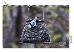White Breasted Nuthatch  Carry-all Pouch by Yumi Johnson