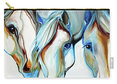 3 Wild Horses In Abstract Carry-all Pouch