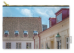Carry-all Pouch featuring the photograph Ystad Street Scene by Antony McAulay