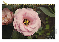 Pink Flowers Carry-all Pouch by Elvira Ladocki