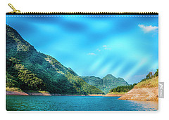 The Mountains And Reservoir Scenery With Blue Sky Carry-all Pouch