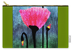 32a Expressive Floral Poppies Painting Digital Art Carry-all Pouch