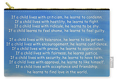 33- Children Learn What They Live Carry-all Pouch by Joseph Keane