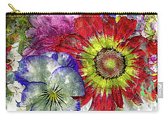 33a Abstract Floral Painting Digital Expressionism Art Carry-all Pouch