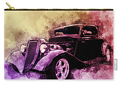 34 Ford Three Window Coupe Pen And Ink Watercolour Carry-all Pouch