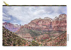 Carry-all Pouch featuring the photograph Zion Canyon National Park Utah by Alex Grichenko