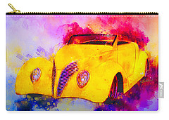 37 Ford Roadster Yellow Watercolour Carry-all Pouch
