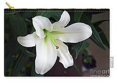 White Lily Carry-all Pouch