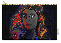 Carry-all Pouch featuring the digital art 381- Child Keep Your Mouth Shut 2017 by Irmgard Schoendorf Welch
