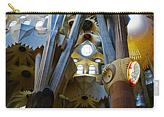 Artistic Achitecture Within The Sagrada Familia In Barcelona Carry-all Pouch by Richard Rosenshein