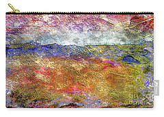 39a Abstract Landscape Sunset Over Wildflower Meadow Carry-all Pouch