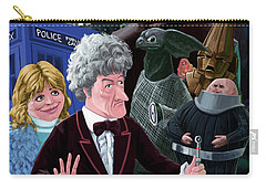 Carry-all Pouch featuring the digital art 3rd Dr Who And Friends by Martin Davey