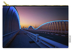 Amazing Night Dubai Vip Bridge With Beautiful Sunset. Private Ro Carry-all Pouch