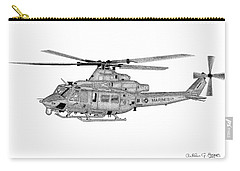 Carry-all Pouch featuring the digital art Bell Helicopter Uh-1y Venom by Arthur Eggers
