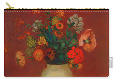 Carry-all Pouch featuring the painting Bouquet In A Chinese Vase by Odilon Redon