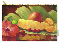 4 Cherries Carry-all Pouch by Laurie Hein