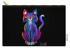 Colorful Cat Carry-all Pouch by Nick Gustafson