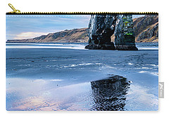 Dinosaur Rock Beach In Iceland Carry-all Pouch by Joe Belanger