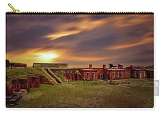 Carry-all Pouch featuring the photograph Fort Clinch by Peter Lakomy