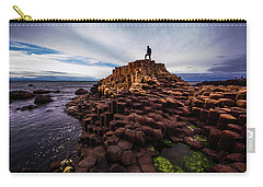 Man Atop Giant's Causeway Carry-all Pouch