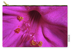 Carry-all Pouch featuring the photograph 4 O'clock Bloom by Richard Rizzo