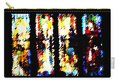 Carry-all Pouch featuring the digital art 4 Panels Of Seville Abstract by Donna Corless