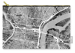Philadelphia Pennsylvania Street Map Carry-all Pouch by Michael Tompsett