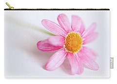 Pink Aster Flower Carry-all Pouch by Nick Biemans