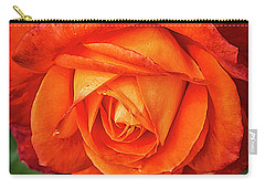 Carry-all Pouch featuring the photograph Rose Beauty by Shirley Mitchell