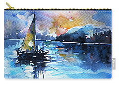 Carry-all Pouch featuring the painting Sailboat by Kovacs Anna Brigitta
