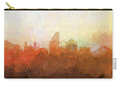 Carry-all Pouch featuring the digital art San Jose California Skyline by Marlene Watson