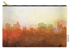 Carry-all Pouch featuring the digital art Springfield Illinois Skyline by Marlene Watson