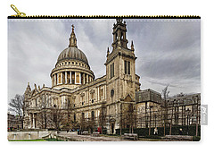St Pauls Cathedral Carry-all Pouch by Shirley Mitchell