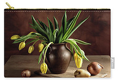 Still Life With Tulips Carry-all Pouch by Nailia Schwarz