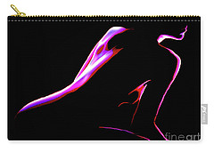 Carry-all Pouch featuring the painting 4 Strokes by Tbone Oliver