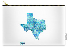 Texas Watercolor Map Carry-all Pouch