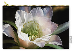 Carry-all Pouch featuring the photograph The Beauty Of White  by Saija Lehtonen