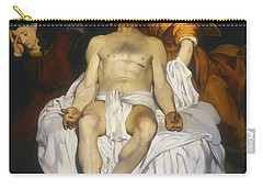Carry-all Pouch featuring the painting The Dead Christ With Angels by Edouard Manet