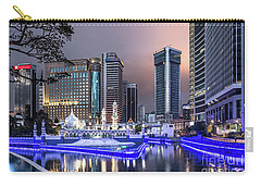 The Office Buildings Reflects In The Water Of The Klang River In Carry-all Pouch