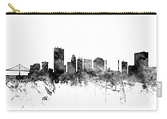 Toledo Ohio Skyline Carry-all Pouch by Michael Tompsett