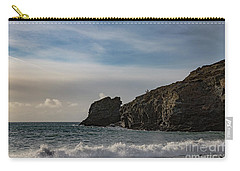 Carry-all Pouch featuring the photograph Trevellas Cove Cornwall by Brian Roscorla